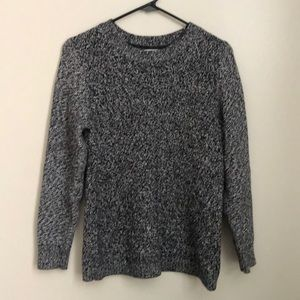 LL Bean Black and white sweater